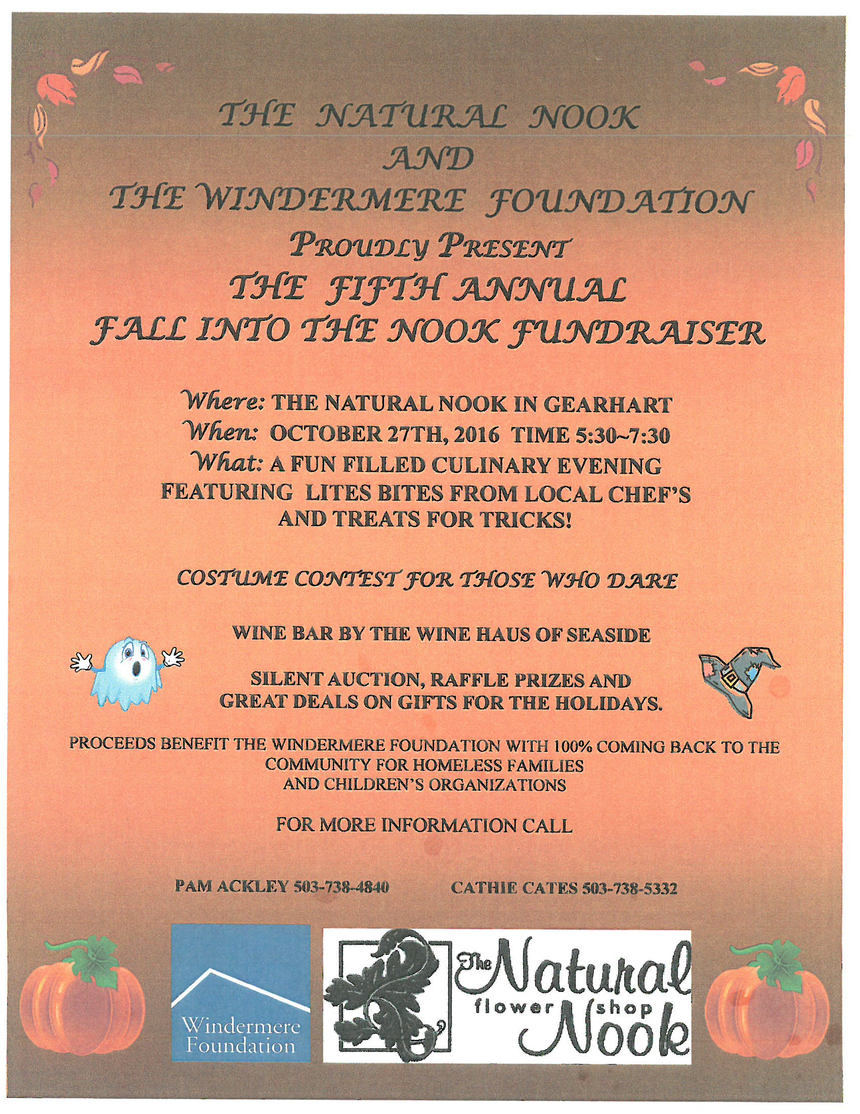 Fall into the Nook Fundraiser FLYER